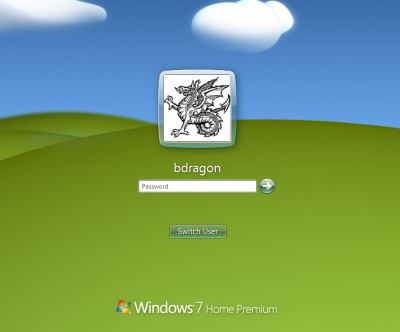 Windows 7 Logon Screen With Profile Picture